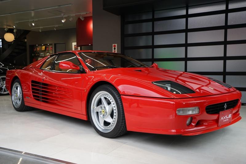フェラーリ F512M 生産台数501台 タン革シート 純正工具 コーンズ記録簿有